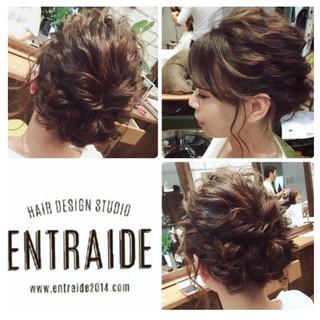 ヘアセット 結婚式 エレガント ヘアアレンジ ヘアスタイルや髪型の写真・画像