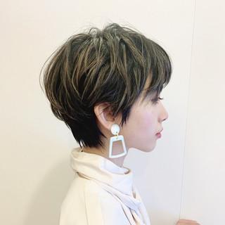 フェミニン マッシュショート ショート ショートヘア ヘアスタイルや髪型の写真・画像