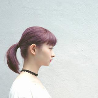 ヘアアレンジ ショート ピンク ボブ ヘアスタイルや髪型の写真・画像