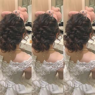 二次会 上品 パーティ 結婚式 ヘアスタイルや髪型の写真・画像
