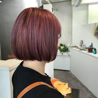ストリート ダブルカラー ハイトーン ピンク ヘアスタイルや髪型の写真・画像