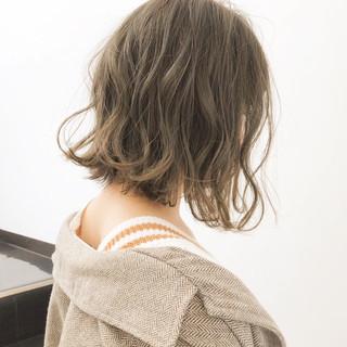 パーマ ナチュラル ボブ デート ヘアスタイルや髪型の写真・画像