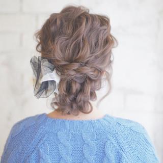 編み込み 大人かわいい ロング ヘアアレンジ ヘアスタイルや髪型の写真・画像 ヘアスタイルや髪型の写真・画像