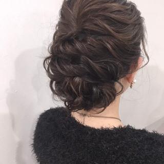 デート ヘアアレンジ アップスタイル ヘアセット ヘアスタイルや髪型の写真・画像
