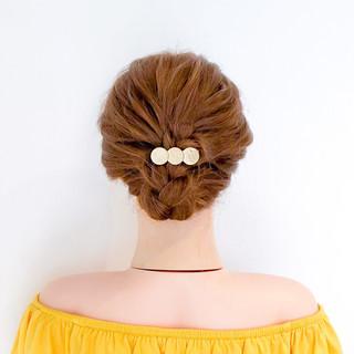 ロング フェミニン ヘアアレンジ 簡単ヘアアレンジ ヘアスタイルや髪型の写真・画像