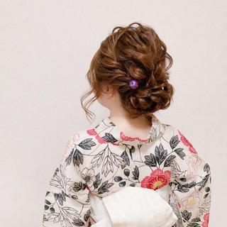 浴衣ヘア エレガント ヘアアレンジ 結婚式 ヘアスタイルや髪型の写真・画像