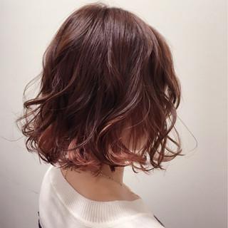 インナーカラー グラデーションカラー パーマ 色気 ヘアスタイルや髪型の写真・画像