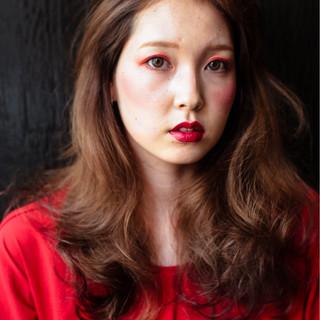 ウェーブ 外国人風 パーマ ロング ヘアスタイルや髪型の写真・画像