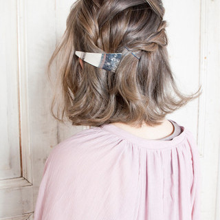 ガーリー 女子会 ボブ デート ヘアスタイルや髪型の写真・画像