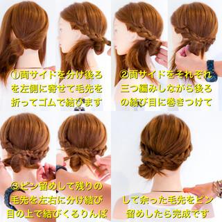 簡単ヘアアレンジ エレガント アウトドア ロング ヘアスタイルや髪型の写真・画像 ヘアスタイルや髪型の写真・画像