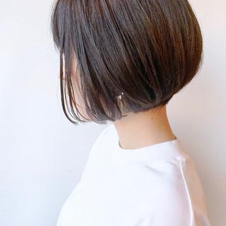黒髪 ばっさり コンサバ ショートボブ ヘアスタイルや髪型の写真・画像
