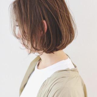 ミルクティーグレージュ グレー グレージュ ミニボブ ヘアスタイルや髪型の写真・画像