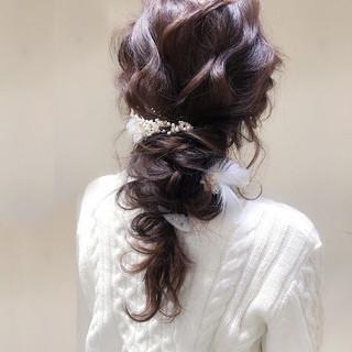 ヘアアレンジ ロング 結婚式 エレガント ヘアスタイルや髪型の写真・画像