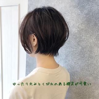小顔 ショートボブ ナチュラル 大人かわいい ヘアスタイルや髪型の写真・画像 | 本田 重人 / GRAFF hair
