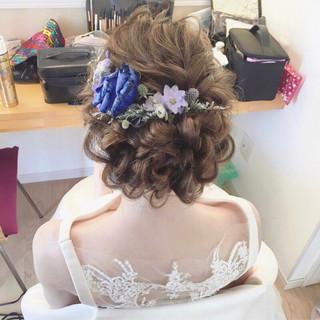 大人かわいい 大人女子 ロング 結婚式 ヘアスタイルや髪型の写真・画像