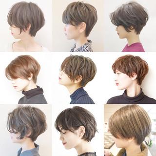 ショート アウトドア ナチュラル 黒髪 ヘアスタイルや髪型の写真・画像