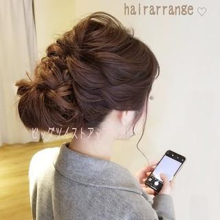 簡単ヘアアレンジ 結婚式ヘアアレンジ ロング ヘアアレンジ ヘアスタイルや髪型の写真・画像