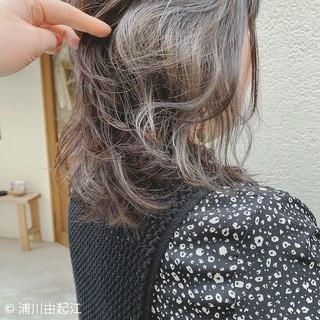 ミディアム ゆるふわ グラデーションカラー エレガント ヘアスタイルや髪型の写真・画像
