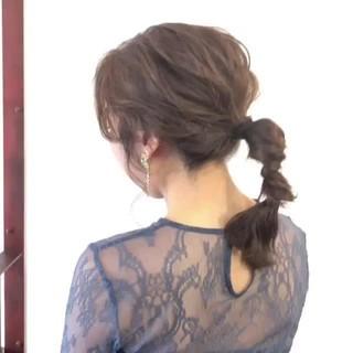 セミロング 大人かわいい 結婚式 デート ヘアスタイルや髪型の写真・画像