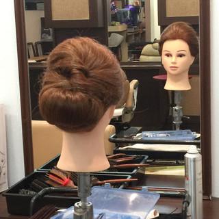 簡単ヘアアレンジ ロング 結婚式 アップスタイル ヘアスタイルや髪型の写真・画像