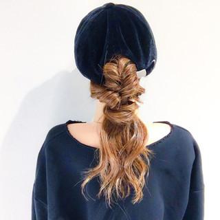 簡単ヘアアレンジ エレガント 愛され スポーツ ヘアスタイルや髪型の写真・画像