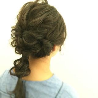 デート 結婚式 セミロング ゆるふわ ヘアスタイルや髪型の写真・画像 ヘアスタイルや髪型の写真・画像