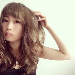 ゆるふわ ヘアアレンジ 前髪あり 外国人風 ヘアスタイルや髪型の写真・画像