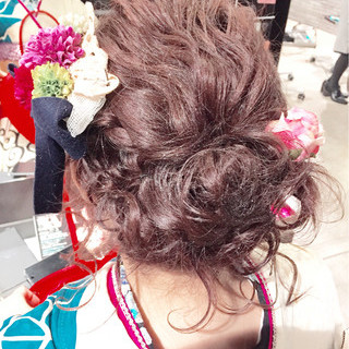ゆるふわ セミロング 大人かわいい ハーフアップ ヘアスタイルや髪型の写真・画像