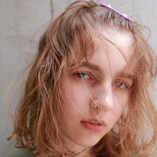 ナチュラル 簡単ヘアアレンジ ヘアアレンジ アッシュベージュ ヘアスタイルや髪型の写真・画像