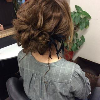 ナチュラル ヘアアレンジ ロング 結婚式 ヘアスタイルや髪型の写真・画像