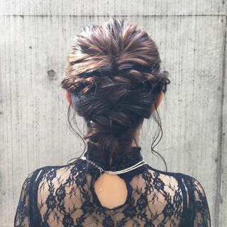 ロング パーティ 編み込み ヘアアレンジ ヘアスタイルや髪型の写真・画像
