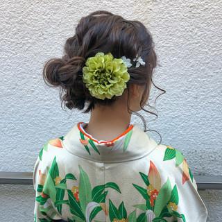 ヘアアレンジ 成人式 ガーリー 卒業式 ヘアスタイルや髪型の写真・画像