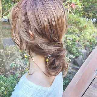 大人女子 大人かわいい ナチュラル 抜け感 ヘアスタイルや髪型の写真・画像