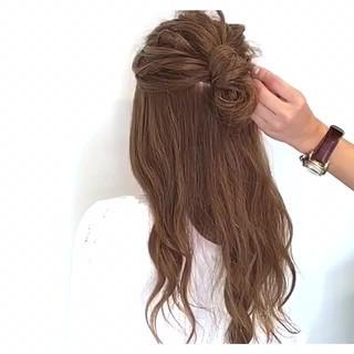 アウトドア ロング 女子会 簡単ヘアアレンジ ヘアスタイルや髪型の写真・画像
