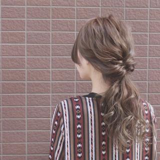 ヘアアレンジ グラデーションカラー ロング ショート ヘアスタイルや髪型の写真・画像