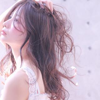 抜け感 透明感 ロング リラックス ヘアスタイルや髪型の写真・画像