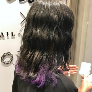 外国人風カラー インナーカラー カラーバター ナチュラル ヘアスタイルや髪型の写真・画像