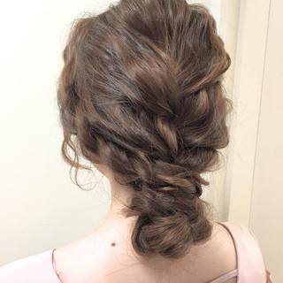 ゆるふわ ショート 簡単ヘアアレンジ アッシュ ヘアスタイルや髪型の写真・画像
