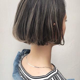 アンニュイほつれヘア ボブ ナチュラル 外国人風カラー ヘアスタイルや髪型の写真・画像