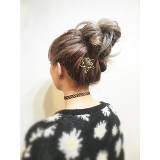 ショート 大人かわいい ミディアム お団子 ヘアスタイルや髪型の写真・画像
