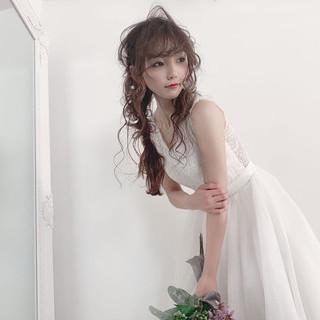 ヘアアレンジ 結婚式ヘアアレンジ ふわふわヘアアレンジ フェミニン ヘアスタイルや髪型の写真・画像