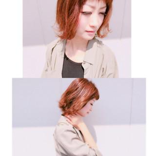 ボブ 色気 ハイライト ヘアアレンジ ヘアスタイルや髪型の写真・画像