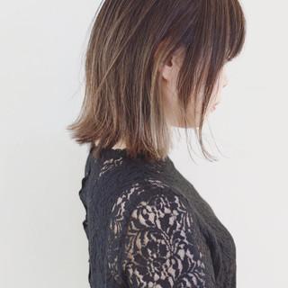 女子力 グラデーションカラー インナーカラー バレイヤージュ ヘアスタイルや髪型の写真・画像