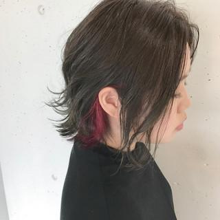 ストリート ボブ 暗髪 色気 ヘアスタイルや髪型の写真・画像