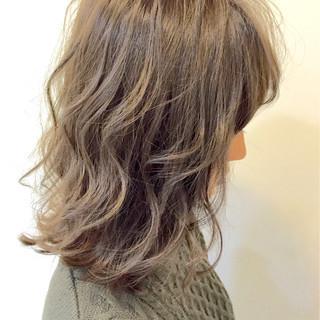 カール マット ブラウン ゆるふわ ヘアスタイルや髪型の写真・画像