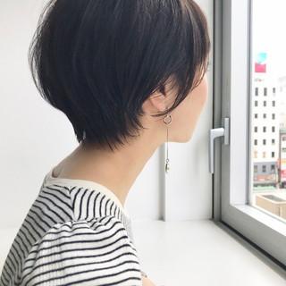 透明感 ショート ショートボブ ショートヘア ヘアスタイルや髪型の写真・画像