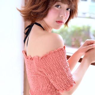 夏 ガーリー フェミニン 涼しげ ヘアスタイルや髪型の写真・画像