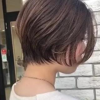 ショート ショートヘア ハンサムショート デート ヘアスタイルや髪型の写真・画像