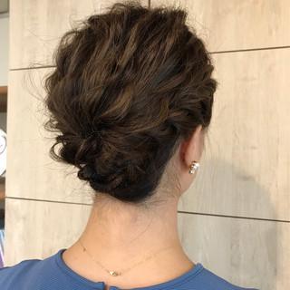 結婚式 エレガント ヘアアレンジ 冬 ヘアスタイルや髪型の写真・画像