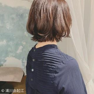 グラデーションカラー ボブ モテ髪 ショートボブ ヘアスタイルや髪型の写真・画像